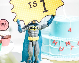 Personalized Superhero Birthday Sign