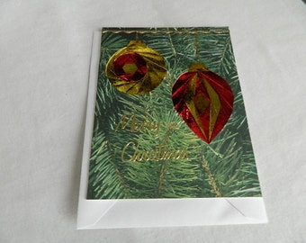 Christmas Iris Fold Ornaments Red and Gold