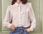 Victorian inspired blouse,Reserved for Judit