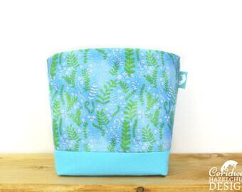Floral Ferns Fabric Storage Box, Storage Basket, Fabric Basket, Fabric Organiser, Storage Bin