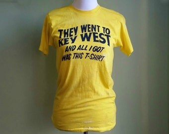 1970s Key West Tee - Souvenir T-Shirt - Destroyed Tee - Funny Tee