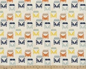 SUMMER SALE! Curtains, Love Bus Maya shown, Designer Curtain Panels, Nursery Room Drapes 24W or 50W x 63, 84, 90, 96 or 108L