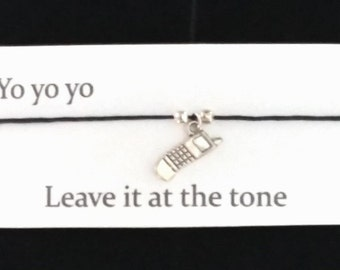 BREAKING BAD Jesse Pinkman themed Friendship Bracelet on waxed cotton cord with message card OR Key Ring or Necklace