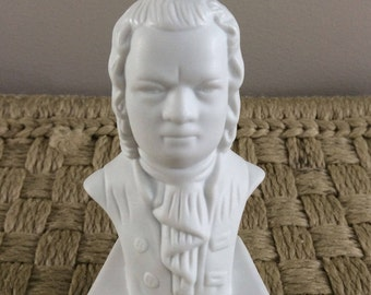 vintage Bach bust statue figurine