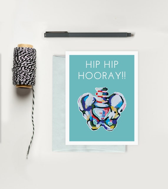 Hip Hip Hooray Funny X-Ray Greeting Card Medical Humor