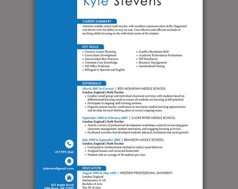 Residential Counselor Resume Excel Restaurant Resume Template Server Resume Food Service Retail Sales Resume Word with Volunteer Experience Resume Pdf Administrative Resume Blue  Word Resume Template   Pages  Microsoft Word   Cv  Writer Resume Pdf