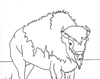 Digital Buffalo Print