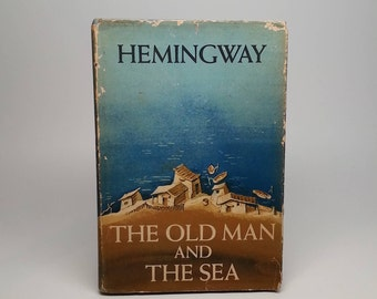 First Edition The Old Man And The Sea by Ernest Hemingway - Scribner's, 1952 BCE Hardcover Book with Original Dust Jacket
