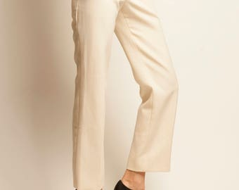 1970's courreges white straight pants