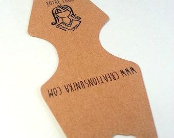 32 Custom labels in cardboard,kraft paper,jewel label,your logo,handmade label,jewelry display,necklace card