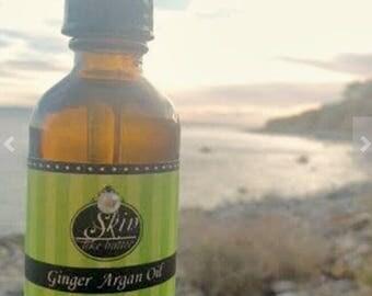Ginger ORGANIC ARGAN OIL || Cold Pressed || 2 oz || Scented Argan Oil