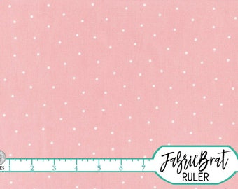 SALMON PINK DOT Fabric by the Yard Fat Quarter Salmon Fabric Polka Dot Fabric Quilting Fabric Apparel Fabric 100% Cotton Fabric a5-24