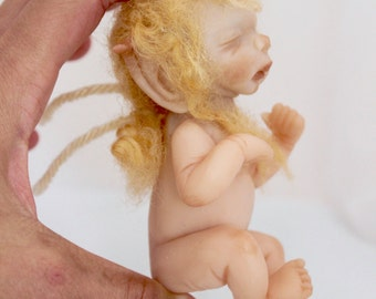OOAK Baby Elf: Hand Sculpted Art Doll