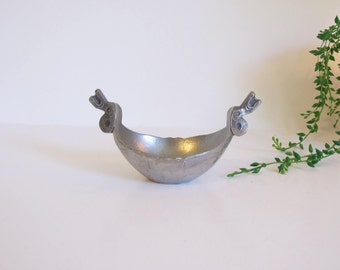 Souvenir Norway //Viking little bowl Norwegian Tin  // Pewter bowl TPB Handstopt Tinn