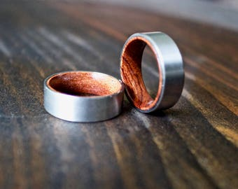 mens wood ring wooden ring mens wooden ring wood ring koa wood - Mens Wooden Wedding Rings