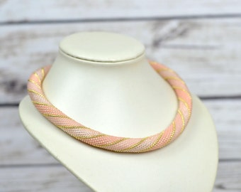 Pink necklace bridesmaid jewelry wedding necklace choker beaded necklace gift for sister wedding gift ideas bridal jewelry gifts bridal gift