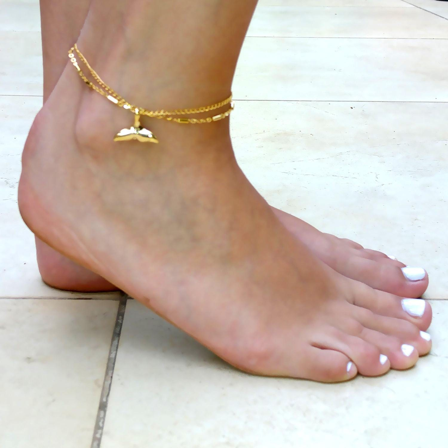 yellow bracelet gold ankle beaded macrame anklet pin ladies