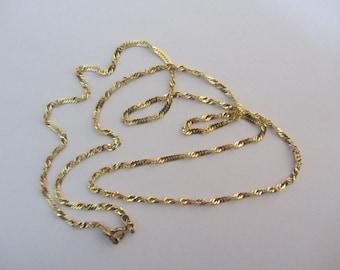 14k Gold Twist Chain (2mm) - 20'' - 2.69g