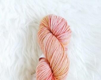 salmon - worsted weight yarn - 100% superwash merino