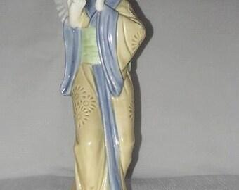 Vintage Lladro Style Oriental Geisha Girl Figurine