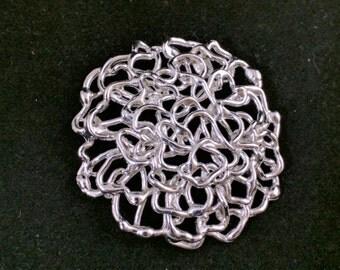 NAPIER vintage silver metal brooch - signed