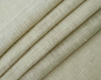 """Natural Fabric, Off White Jute Fabric, Home Decor Jute Fabric, Off White Burlap, 50"""" Inch Wide Jute Fabric By The Yard ZJC1D"""