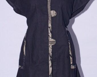 Morella -Beautiful Black Buttondown Tunic - SP12-4205