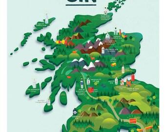 Scotland's Gin Map
