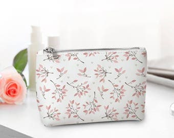 Cosmetic bag Make up organizer Travel bag Women gift Leather bag Birthday gift Bridesmaid Personalized Gift Gift Set Case For Her CL7010