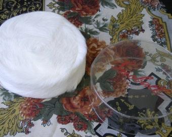 Vintage 60s White Rabbit Fur Pillbox Hat - Snowball Original Cover