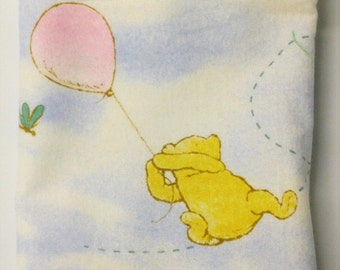 """Travel/Toddler Flannel Pillowcase - """"Winnie the Pooh Flannel"""""""