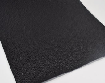 BLACK TEXTURED LEATHER, faux leather sheet,8x11 faux leather,black faux leather,black faux leather, black vegan leather, faux leather fabric