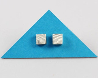 Earring_square__Wave_ Design - Upcycling