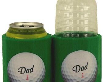 Beverage Insulator #1 #Dad #Golf Ball #Ecofriendly PocketHuggie- Handmade, Reusable, 2 SIZES-Cup, Can, #Starbucks #Coffee #Beer #Water #Soda
