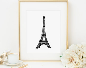 Beau Eiffel Tower Printable Eiffel Tower Wall Art French Decor Paris France Wall  Art Eiffel Tower Print