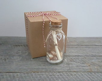 VALENTINE'S Message in a Bottle in Gift Box, Unique Romantic Valentine's Day Gift for Him or Her, Classic Verse in Vintage Typewriter Font