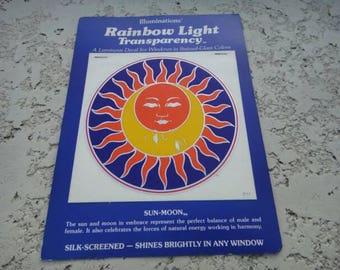 Vintage retro sun moon decal window decal sicker Vintage retro 1978
