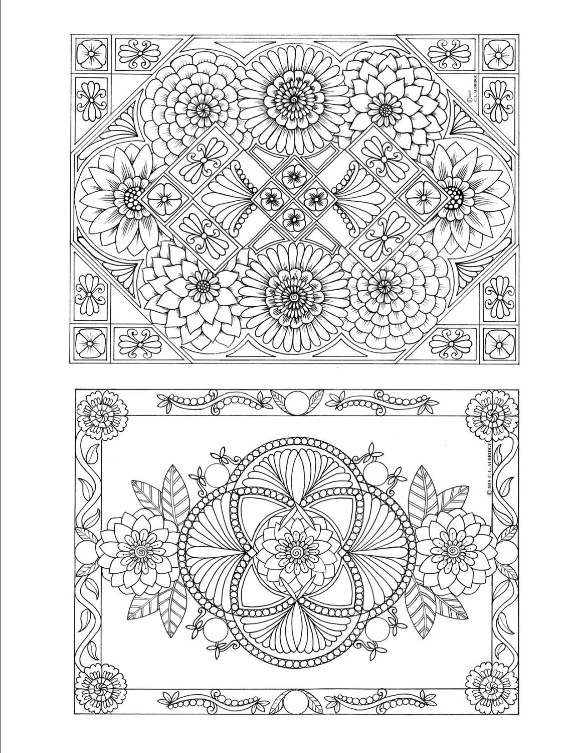 Flowers And Dreams A Coloring Book Of Beautiful Botanical