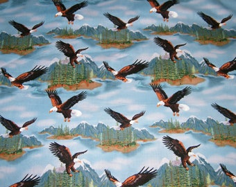 Bald Eagle Fabric Etsy