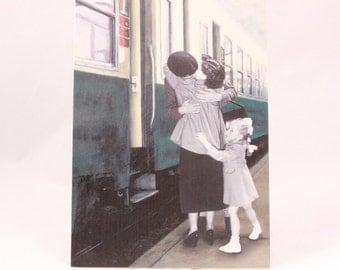 Greeting Card by Flavia. Artist Mara Bosnak. 1 Card and 1 Envelope Included. Train