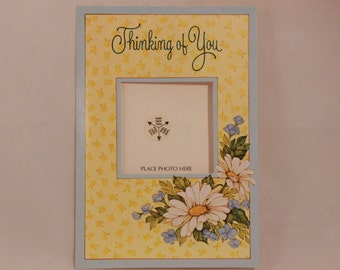 NEW! Vintage Drawing Board Thinking of You Photo Greeting Card and Envelope.