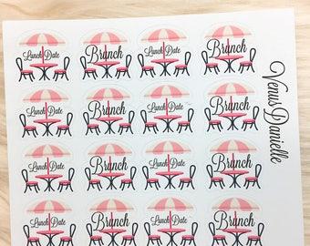 16 Brunch/Lunch Planner Stickers, Lunch Date stickers, Brunch Planner, Lunch stickers, Brunch Stickers, Planner Accessories