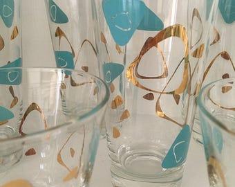 Atomic Federal Glass Boomerang Set 17pc set