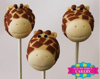 Giraffe Head Cake Pops (1 Dozen)
