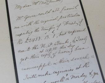 Vintage 1963 Handwritten Personal Letter - Written on Mourning Paper