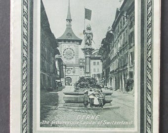 Vintage Tourist Map Switzerland 1926