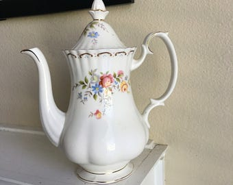 Reserved** Not for sale**Beautiful Royal Albert Jubilee Rose Coffee Pot