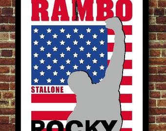 Poster Vintage Decoration Cinema Rambo Rocky Stallone