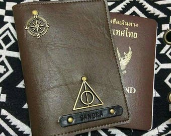 Buy 3 Get 1 Free !! - Passport Holder Personalized Passport Cover Gift Personalized gifts Bridesmaid Luggage tag harry potter passport cover