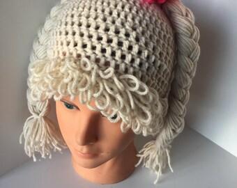Cabbage patch braid hat